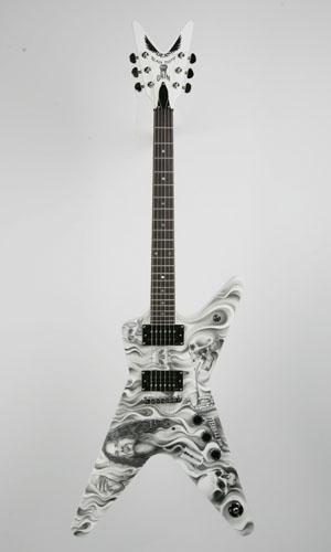 Hand-Painted Guitar by Tattoo Artist, Bob Tyrrell