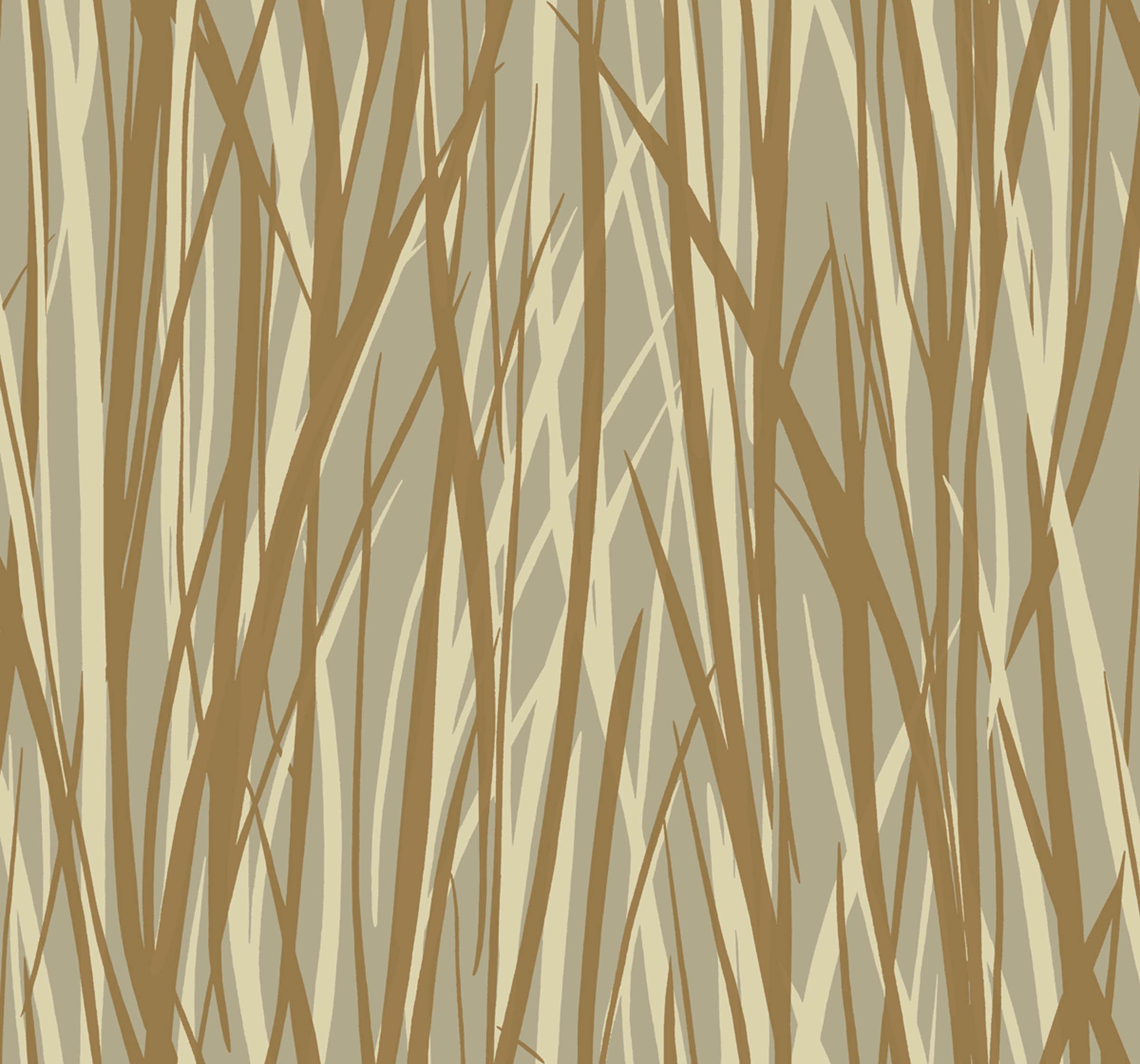 """Grasses design from Sandpiper Studios' """"Eco Chic"""" wallpaper collection."""