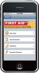 First Aid, Lange Q&A and PreTest USMLE Prep apps from Modality and McGraw-Hill.