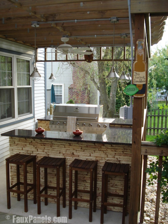 Enhance Summer Outdoor Living With Stone Veneer Accents