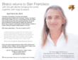 Braco Gazing Healing Sessions in San Francisco April 22-25, 2012 - Interview With Those Healed or Helped on Dr. Carol Francis Talk Show April 18, 2012