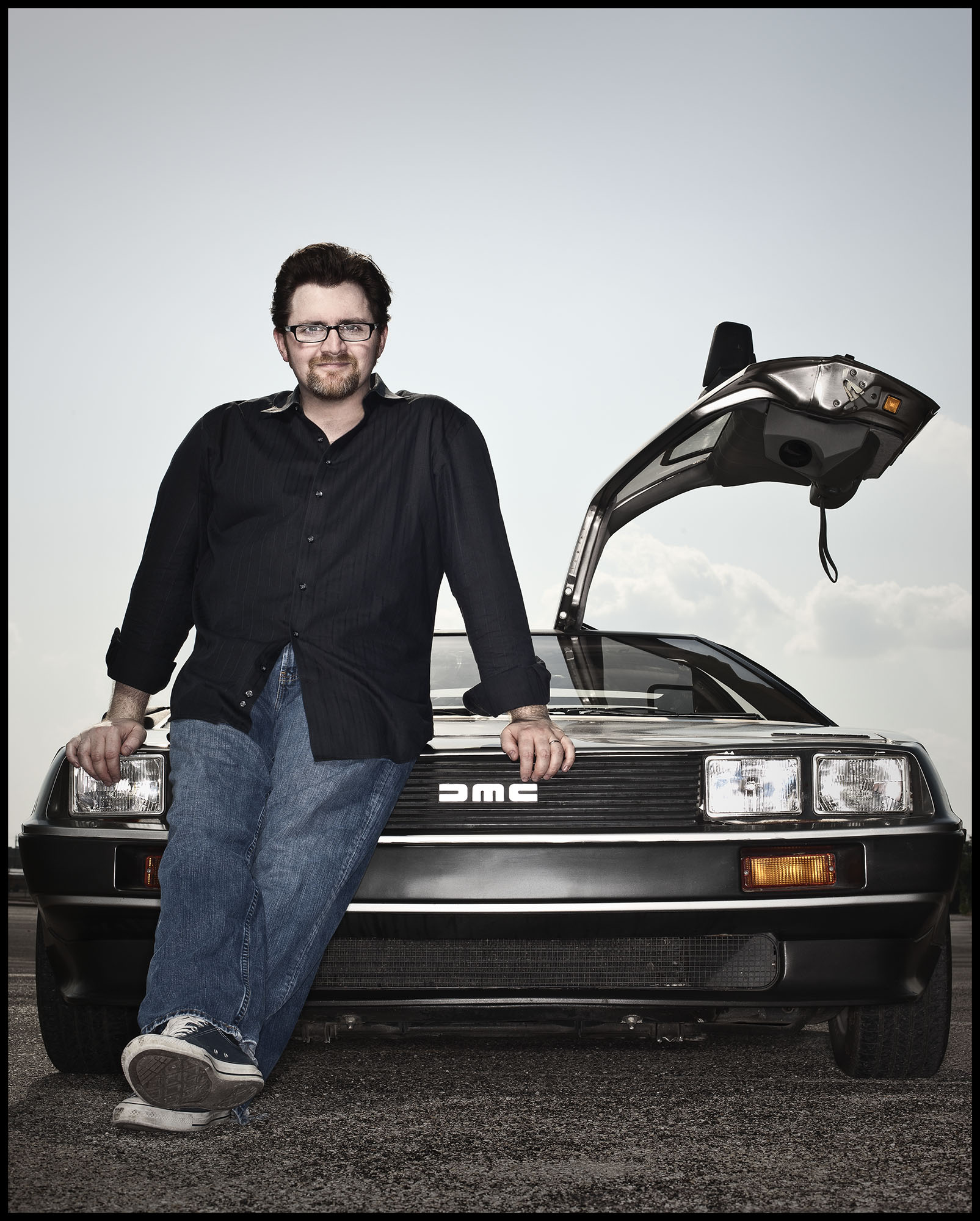 Ernest Cline & his Delorien