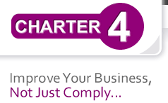 Charter 4 logo - improve your business, not just comply