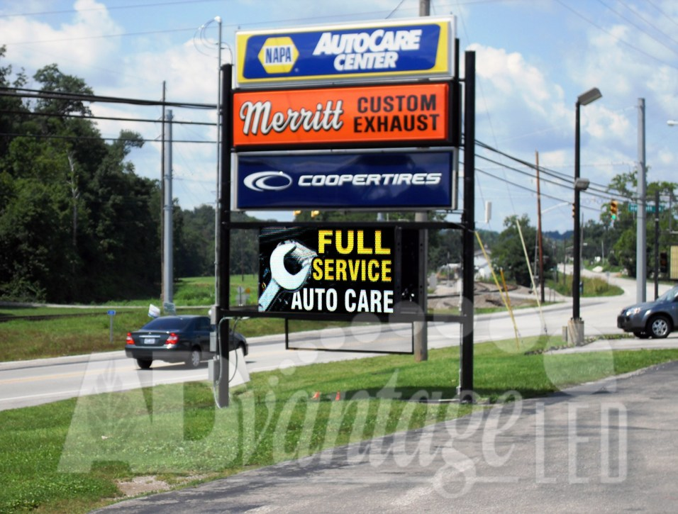 Advantage Led Signs Announces Completion Of The Merritt Auto Repair Led Sig