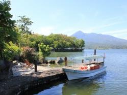 View to Mombacho Volcano from Lake Nicaragua