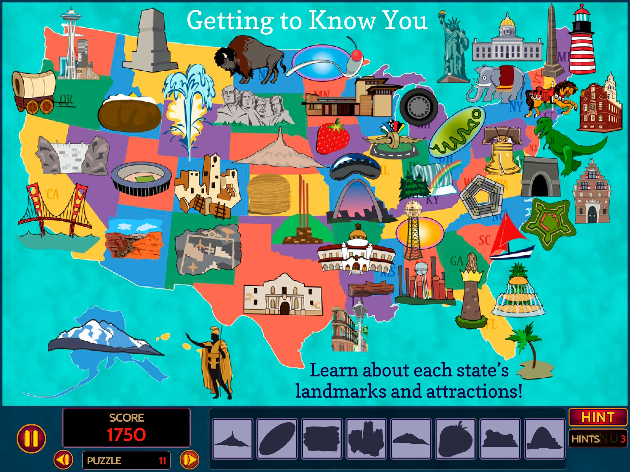 Geoseeker Usa New Geography Seek And Find Games From