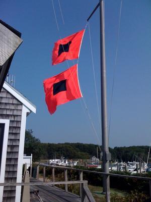 Hurricane Flags And Advice On Hurricane
