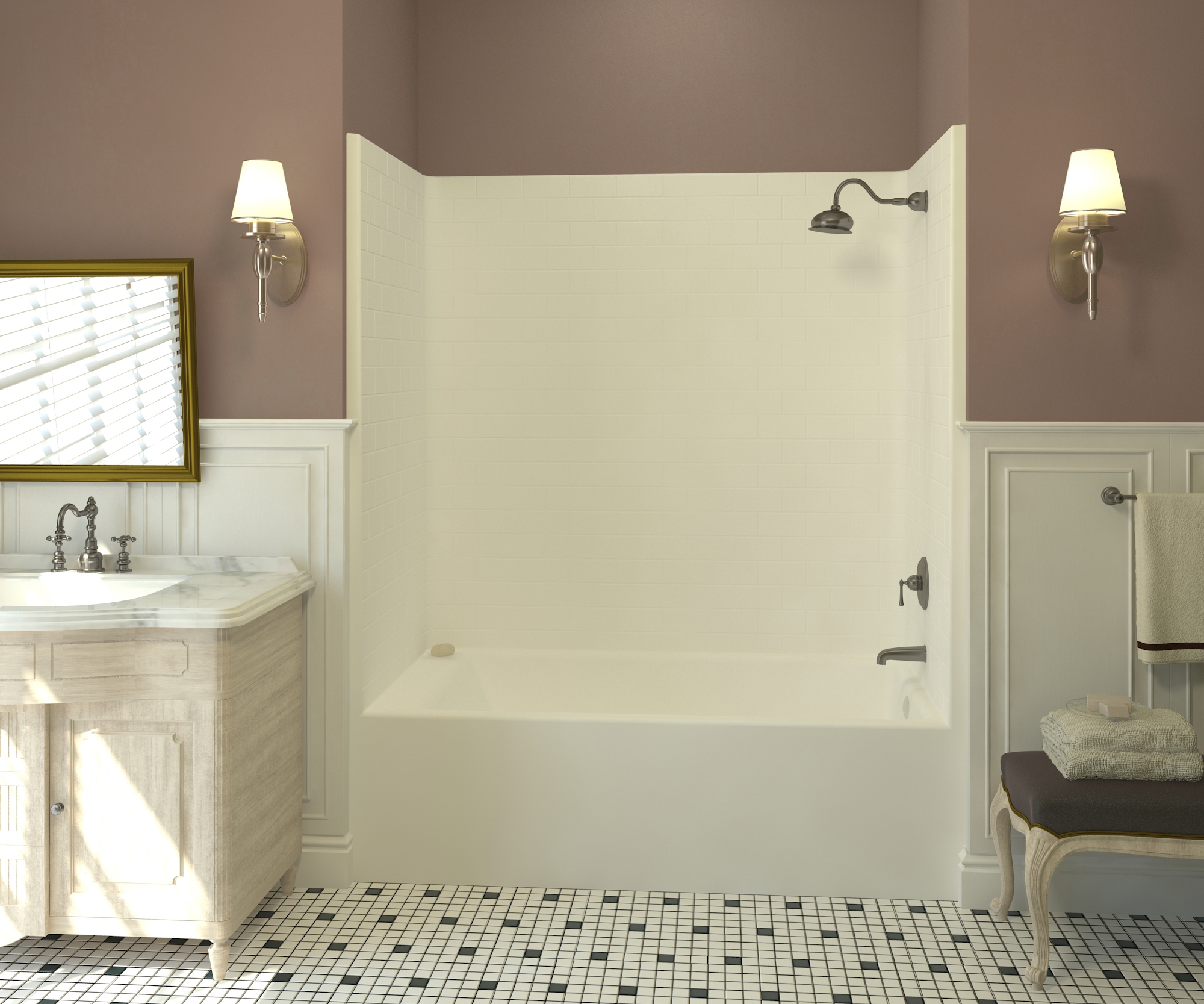 Aquatic S New Subway Tile Family Of Tub Showers And Showers