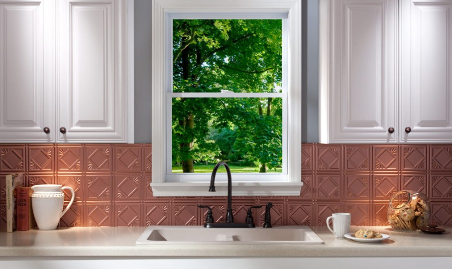 Acoustic Ceiling Products  ACP  Announces New Design of http   www     Fasade backsplash in Traditional 4  Argent Copper