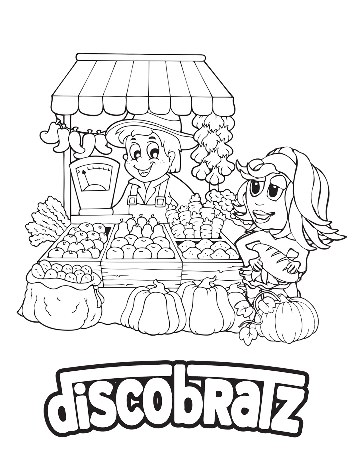 Discobratz Releases Its National Nutrition Month Coloring Page