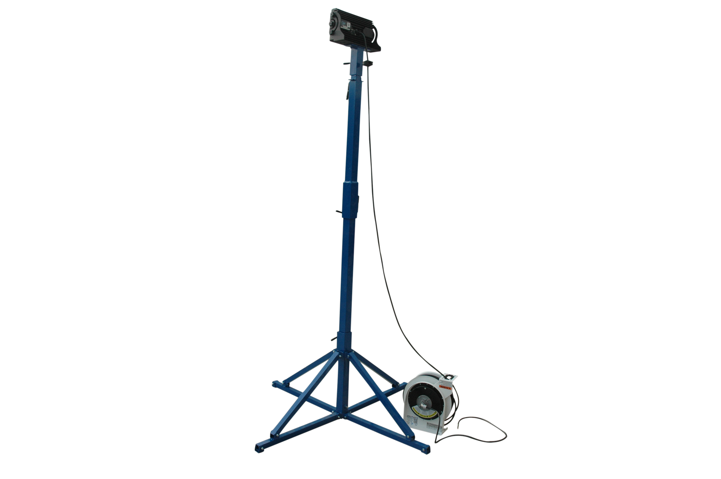 Larson Electronics Releases A High Intensity Led Light With A Cord Reel On Collapsible Quadpod