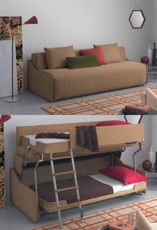 Resource Furniture Debuts Transforming Sofa Bunk Bed System