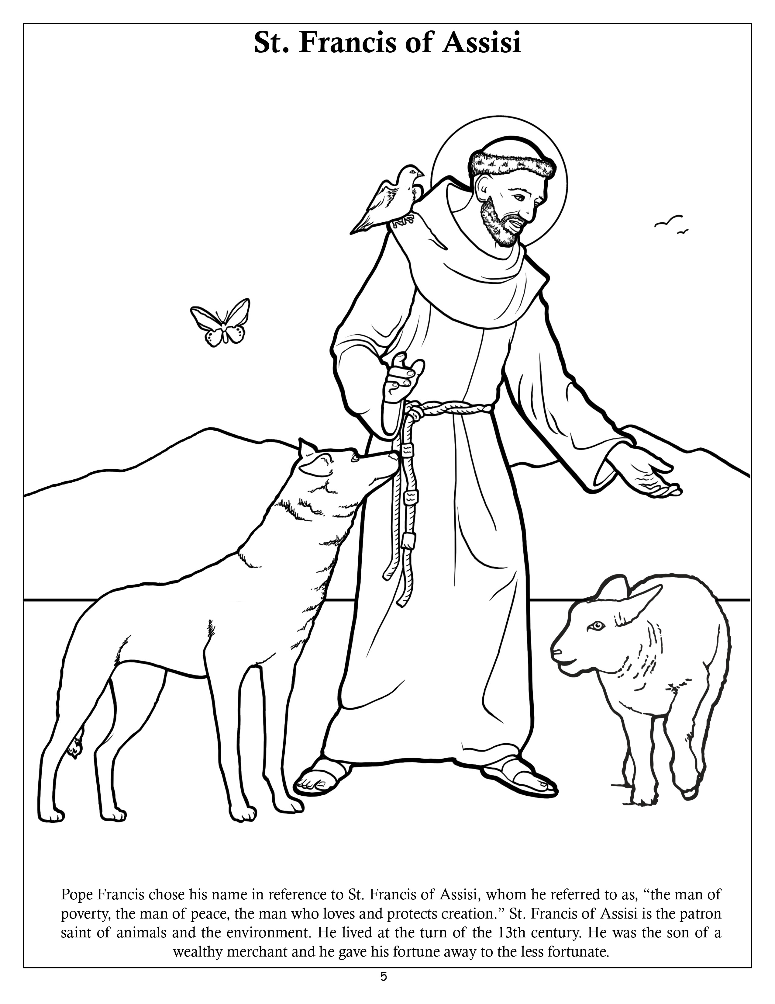 The Pope Francis Coloring And Activity Book