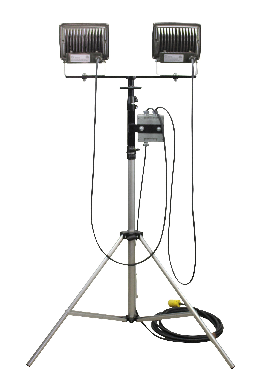 50 Watt Led Flood Light On Telescoping Tripod Released By Larson Electronics