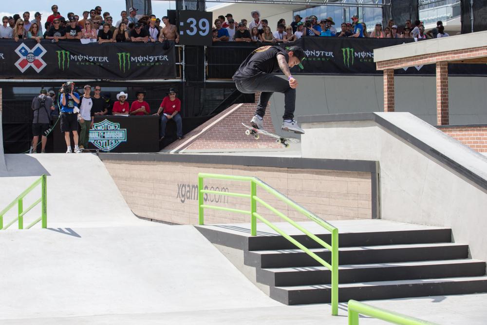 Monster Energy's Nyjah Huston Wins Skateboard Street Gold