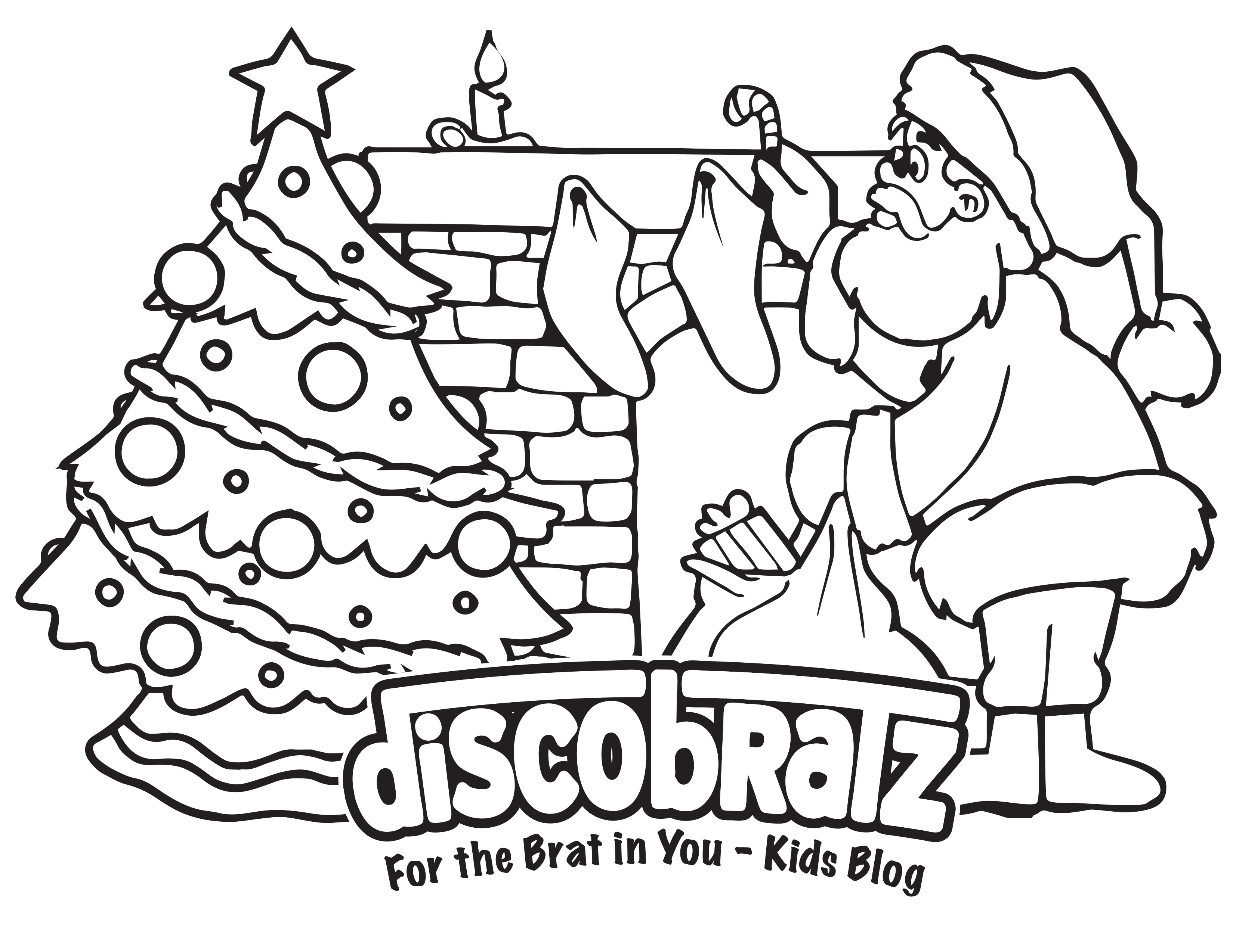 Discobratz Releases Holiday Themed Coloring Page Featuring The Man In Red