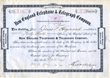 Scripophily.com is Now Offering an Original New England Telephone & Telegraph Company Stock Certificate signed by Theodore Vail (First President of AT&T) dated 1883.