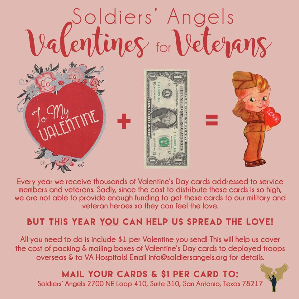 Soldiers Angels Launches Valentines For Veterans Program