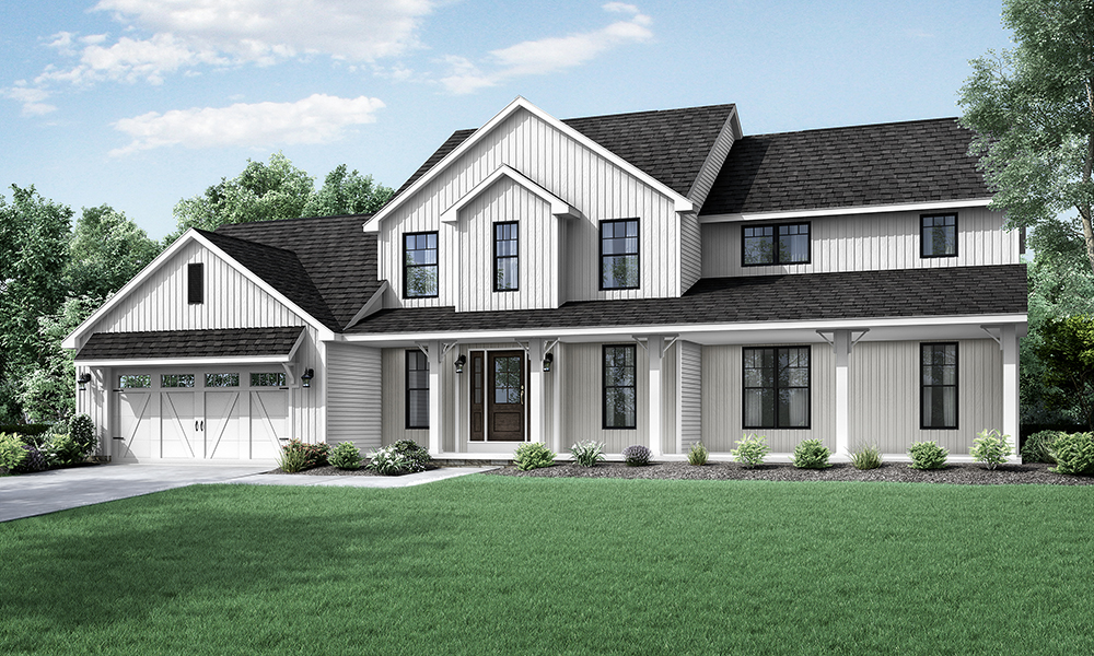 Wayne Homes Introduces New Two Story Floorplan The Columbia