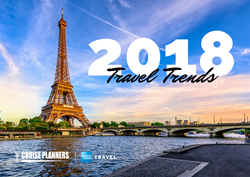 "Cruise Planners travel professionals are enhancing trips with high-value experiences and meaningful connections in the tech-driven travel world. 2018 travel trends include luxury, extras and ""wow"" moments."