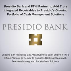 Presidio Bank and FTNI Announce Integrated Receivables Partnership | Image
