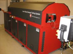Laser Glass Damage Testing System delivered by LSP Technologies, Inc.