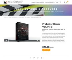 ProTrailer Horror Volume 2 - Pixel Film Studios Effects - FCPX Plugins