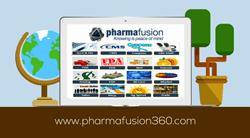 A view of the Pharmafusion360° platform menu screen