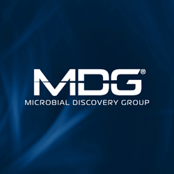MDG Logo on Blue Background