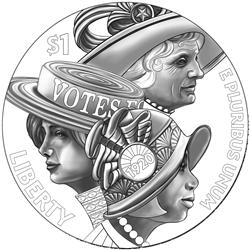 2020 Women's Suffrage Centennial Silver Dollar Obverse