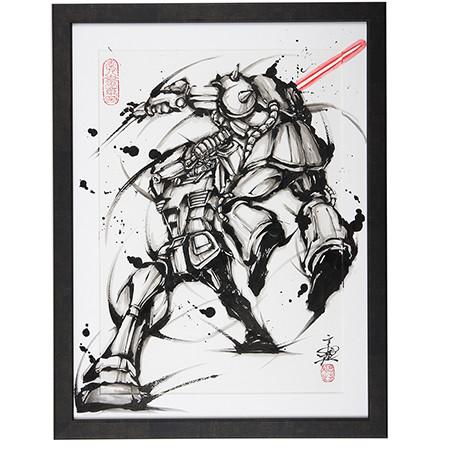 有請大佬,萬代推出《機動戰士高達》水墨畫原畫每張售價21 萬6000 日元