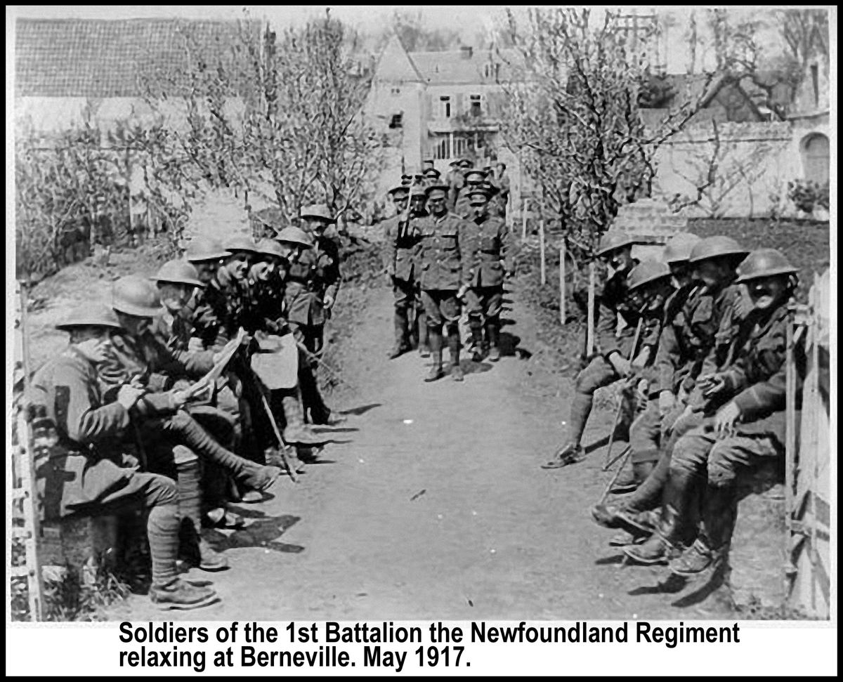 Newfoundaland Regiment, Bernevillle, May 1917
