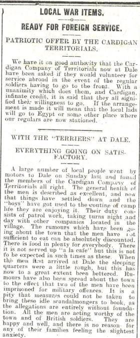 1914 WW1 week 5.3 Local war items