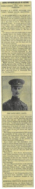 1914 WW1 week 14 Local officers