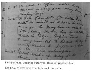 1914 WW1 week 22 lampeter log book