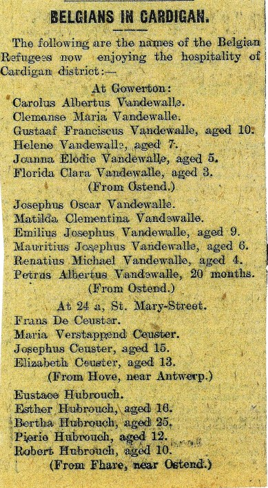 1915 Week 25 Belgians in cardigan