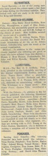 1915 WW1 week 23 Local news