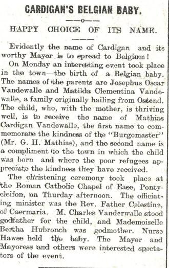 1915 WW1 Week 26 Belgian baby