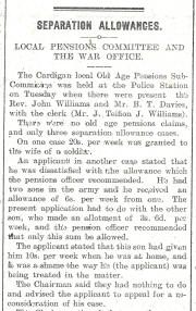 1915 WW1 week 32 Separation Allowances