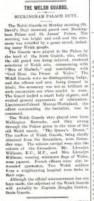 1915 WW1 week 32 Welsh Guards