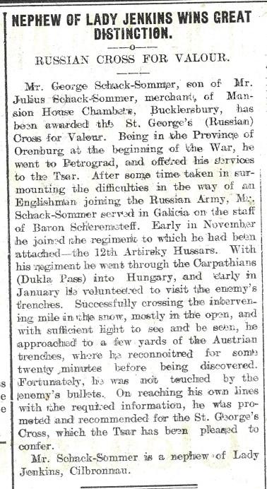 1915 WW1 weeks 33 and 34 Russian Cross
