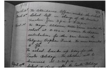 1915 WW1 week 36 Peterwell Infants School Log book