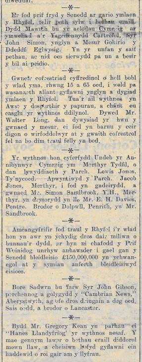 1915 week 52 CTA 23-7-15 Pell ag Agos rhan 2