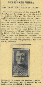 1915 week 55 CTA 13-8-15 sad loss