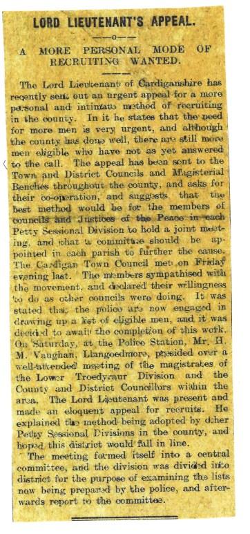 1915 WW1 week 44 CTA 28-5-15.jpg Lord Lieutenant's Appeal