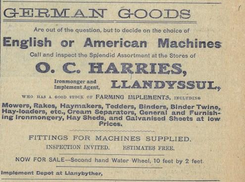 1915 WW1 week 46 CTA 09-06-15 Harries, Llandyssul
