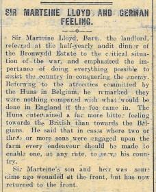 1915 WW1 week 48 CTA 1-07-15 German feeling