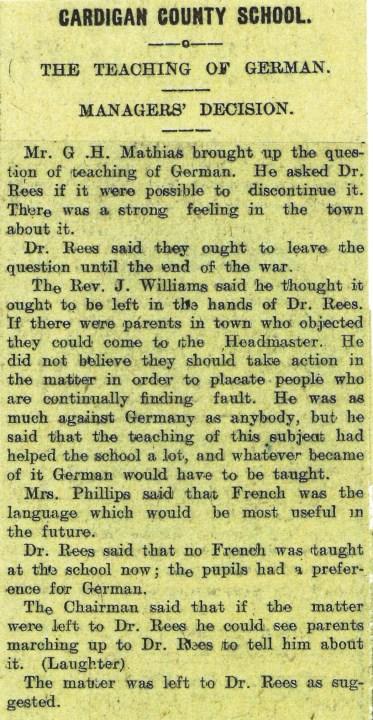 1915 week 67 CTA 5-11-15 Teaching of German