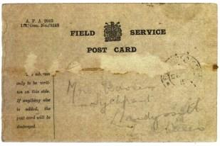 1915 week 72 ADX -464-1 Field service post card