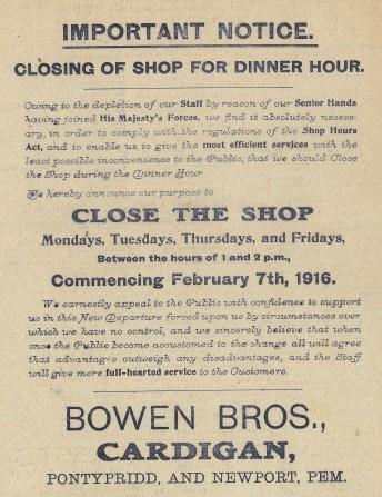 1916 week 78 CTA 28-1-16 Dinner hour